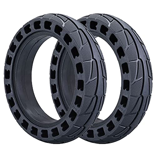 DPGPLP 8.5 Inch Electric Scooter Tyres,8.5 * 2.0 Honeycomb Solid Tyre,Puncture Proof Rubber Tyres,Replacement Wheel for Scooter(2Pcs)