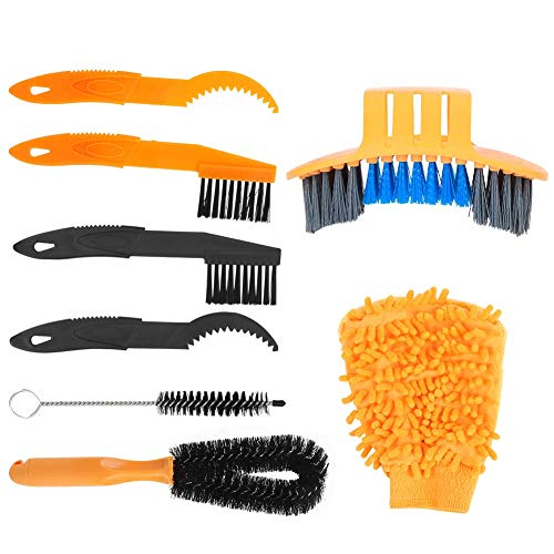 Negro, Cepillo de limpieza para bicicletas, Tidy, Cepillo de limpieza, Amarillo, Resina, para limpieza de bicicletas Mantenimiento de bicicletas doméstico diario
