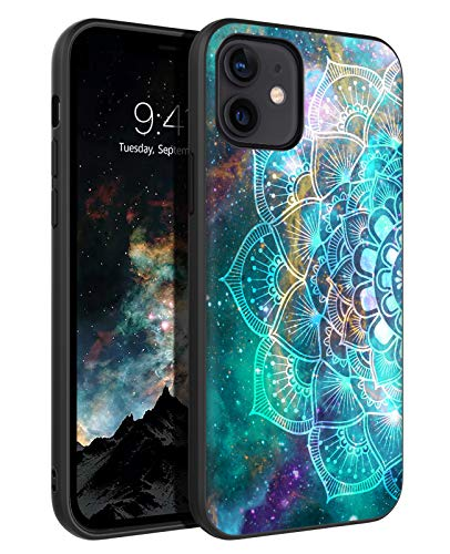 BENTOBEN Funda iPhone 12 Mini 5.4'', Carcasa iPhone 12 Mini Cover Ultra Delgada Mandala Luminosa Resistente Silicona Suave PC Dura Protectora Cuero Completa Fundas para iPhone 12 Mini 5.4''-Mandala