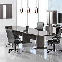8ft - 16ft Modern Designer Conference Room Table, Office Meeting Boardroom, 10ft 12ft 14ft (8ft, Textured Driftwood)