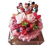 ミッキー ミニー 花束風 ディズニー フラワーギフト バースデー ミッキー&ミニーB フラワーケーキ プリザーブドフラワー使用 ケース付き 誕生日プレゼント 彼女