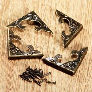 FidgetGear 4/20pcs Classical Decorative Wood Chest Jewelry Box Corner Guard Edge Protector 4pcs One Size