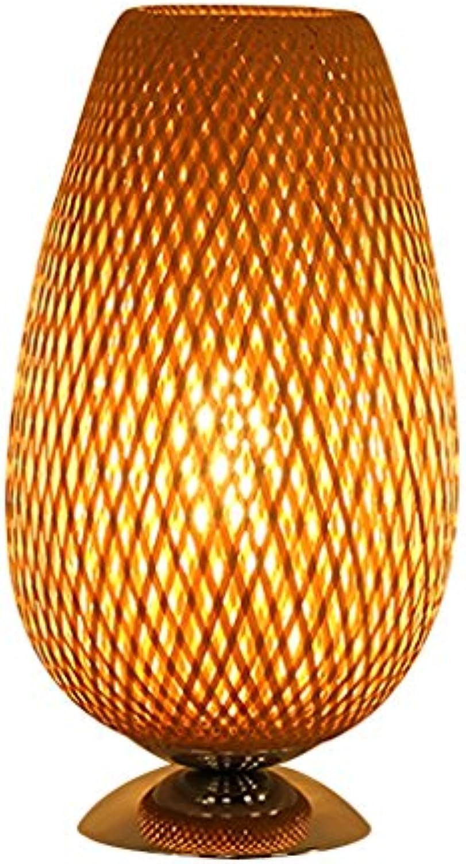 LILY Nanzhu handgemachte Tischlampe - Südostasien Wohnzimmer Schlafzimmer Buch Schreibtisch Lampe (Holzfarbe)