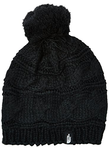 The North Face Women's Triple Cable Pom Beanie, TNF Black, One Size