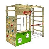 Fatmoose - Área de Juegos Cleverclimber Club XXL - Pórtico de Juegos de Madera con Torre de...
