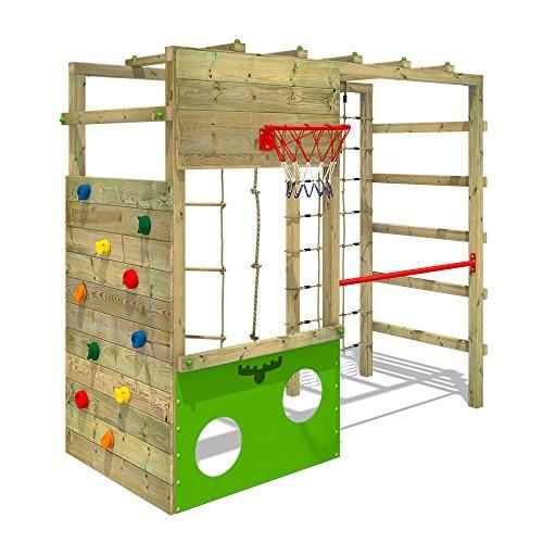 FATMOOSE Klettergerüst Spielturm CleverClimber Club XXL, Gartenspielgerät mit Kletterwand & Spiel-Zubehör