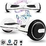 Magic Vida Skateboard Électrique 6.5 Pouces Bluetooth avec LED Gyropode Auto-Équilibrage de Bonne qualité pour Enfants et Adultes(Noir