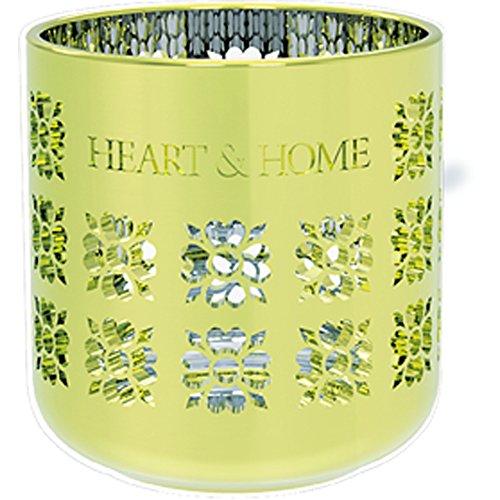 Heart & Home Photophore métallique Vert 200 g