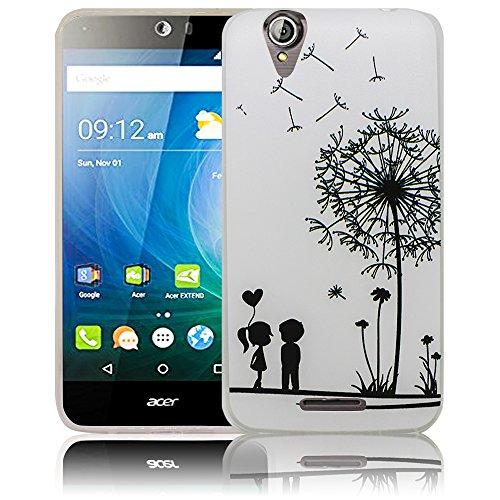 thematys Passend für Acer Liquid Z630 Pusteblume Silikon Schutz-Hülle weiche Tasche Cover Case Bumper Etui Flip Smartphone Handy Backcover Schutzhülle Handyhülle