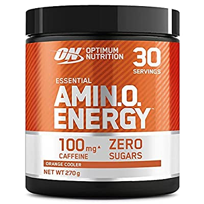 Optimum Nutrition Amino Energy Pre Workout Powder, Energy Drink with Beta Alanine, Vitamin C, Caffeine and Amino Acids, Orange Cooler, 30 Servings, 270 g, Packaging May Vary