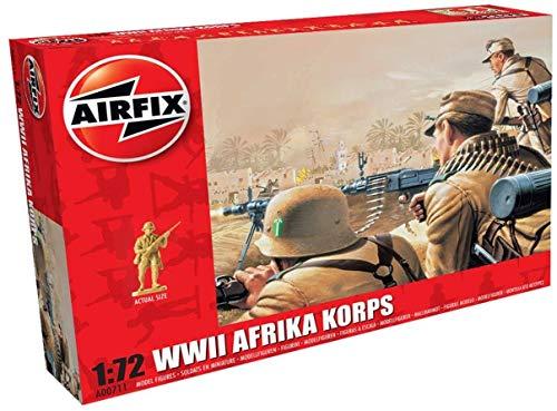 Airfix A00711 1/72 Deutsches Korps Figuren WWII Afrika Corps, grau