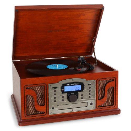 Ricatech RMC250 houten platenspeler, 4 W, 435 mm, 317 mm, 250 mm, 7,38 kg