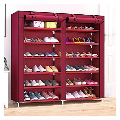 Zapatera Banco de zapatos Multifunción 12 capas zapatos gabinete a prueba de polvo zapatos rack organizador zapatos botas almacenamiento estante estantería cubierta casero muebles Zapatero Estantes de