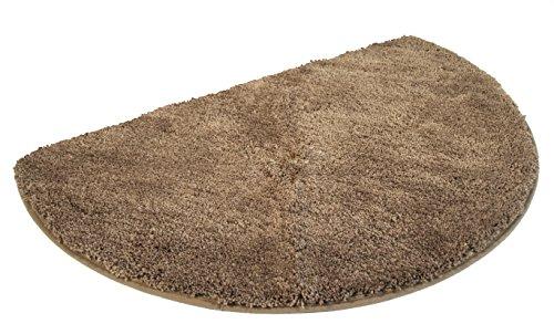MESANA Duschmatte, Mikrofaser, braun, 50x80 cm halbrund