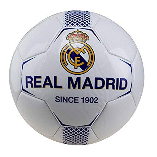 BALON REAL MADRID MEDIANO BLANCO-AZUL