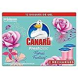 Canard WC Fresh Disc Ricarica Blocco senza Gabbia Floral Fantasy 2 Ricariche