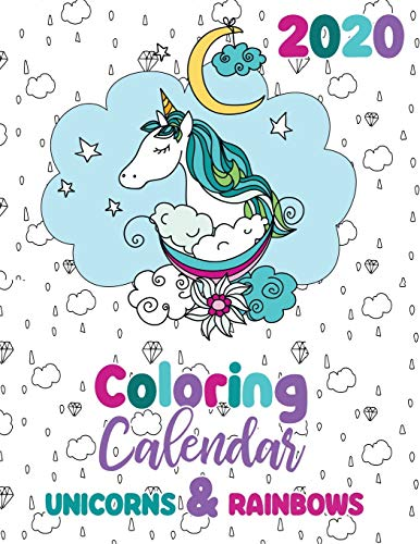 2020 Coloring Calendar Unicorns & Rainbows