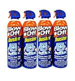 Compressed Air Duster Can MAX Professional Cleaner 1111 Blow Off Non-Toxic 8oz. Stop The Build-up of Dust in Your Electronics, Clogging up The Cooling Fan. Pack of 4