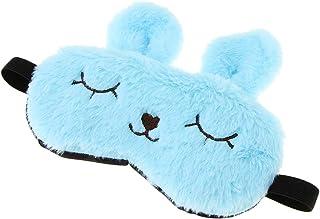 F Fityle Fluffy Plush Bunny Eye Mask Cute Animal Sleeping Eye Cover Blindfold