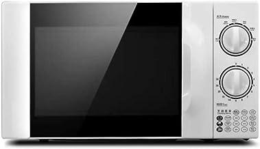 JINRU Horno De Microondas De Encimera De Estilo Retro con Plato Giratorio De Memoria De Control De Cinco Velocidades De Potencia De Fuego, Modo Ecológico Y Sonido Encendido/Apagado