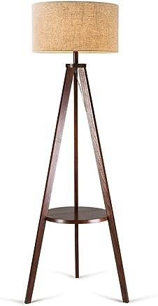 LILY 三脚垂直フロアランプ、和風ミニマリストソリッドウッドコーヒーテーブルランプ、ノルディックアメリカンクリエイティブリビングルームベッドルームスタディランプ (Color : A)