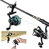 PLUSINNO Fishing Line Spooler with Unwinding Function, Fishing line Spooling Station Versatile for Both Thick & Thin Rods, Works with Spinning Reel, Cast Reel Without Line Twist