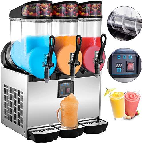 VEVOR Machines A Granités 900 W 12 L* 3, Machines A Granitas utilisation commerciale, pour fabriquer les boissons glacées/notamment les jus de fruits/le thé, les slurpees/les cocktails glacés