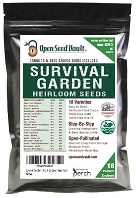 Survival Garden 15,000 Non GMO Heirloom Vegetable Seeds Survival Garden