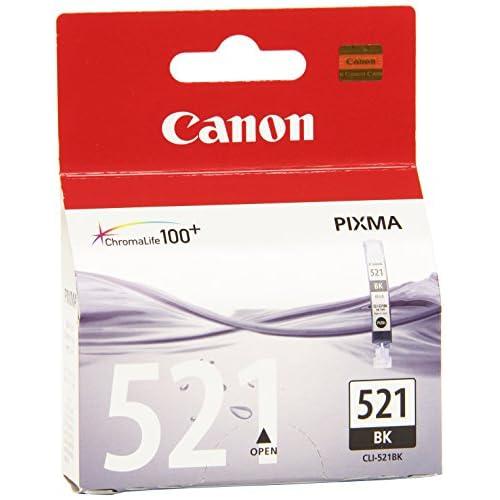 Canon CLI-521 BK Serbatoio Inchiostro, Nero, Blister Security