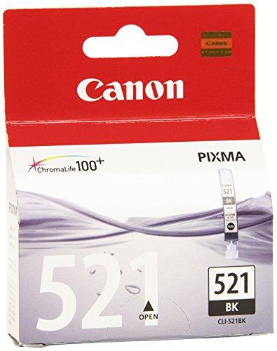 Canon Tintenpatrone CLI-521 BK - schwarz 9 ml - Original für Tintenstrahldrucker