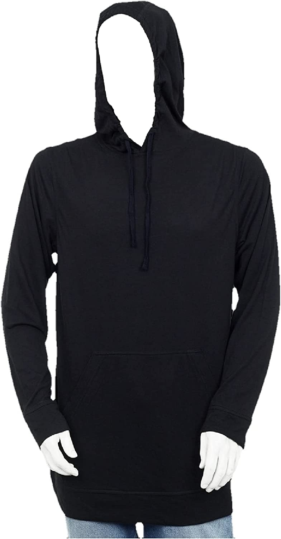 Big and Tall - Mens T Shirt Hoodie, Kangaroo Pocket