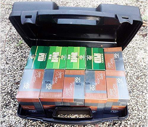Generico Valigetta in Plastica Scatola Porta Cartucce Calibro 12 E 20 Valigia Contenitore Borsa