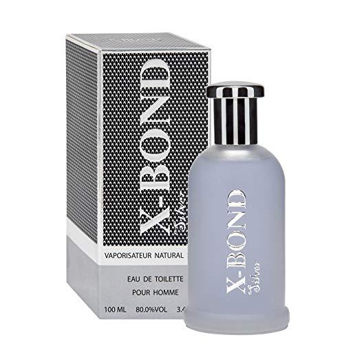 X-BOND SILVER Eau de toilette pour homme, 100 ml - Durée limitée Offre