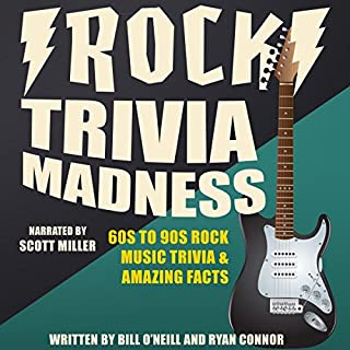 Rock Trivia Madness audiobook cover art