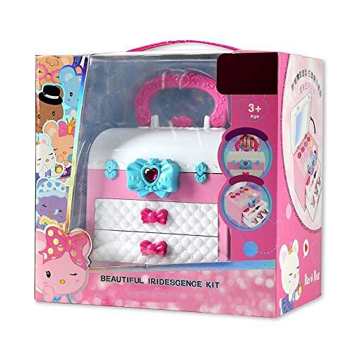 SOWLFE Mädchen vorgeben, Make-up-Kit, vorgeben, Spielen Make-up-Set Kosmetik-Kit Spielzeug mit tragbaren Box für Kinder Spielen Spiel Halloween Weihnachten Geburtstagsfeier