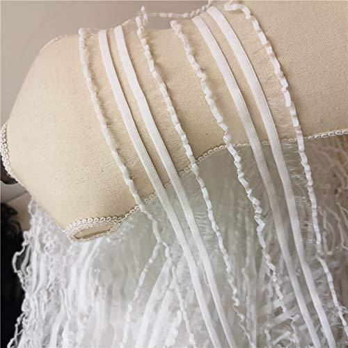 19.6in dentelle translucide noir et blanc de haute qualité, dentelle en dentelle de ceinture élastique pour vêtements à la main, accessoires de dentelle en dentelle noire conviennent à la décoration d