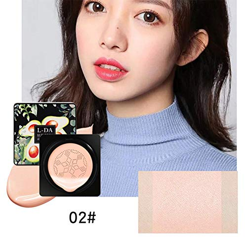 iBellete Air cushion BB cream, CC cream, mushroom head cushion BB cream, moisturizing concealer, bright base makeup, long lasting, with mushroom makeup sponge