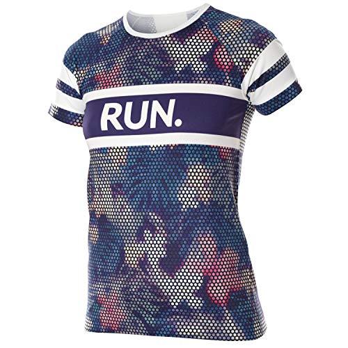 BRUBECK Sportshirt Kurzarm Damen Mädchen | Womens T-Shirt Running | Funktionsshirt nahtlos atmungsaktiv | Short Sleeve Shirt Girls | Sport | Fitness | Laufshirt | lila | Gr. S | SS13250A