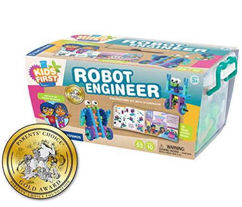 STEM birthday gift ideas for a 4 year old girl include building her own robot for sure.