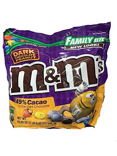 M&M's Dark Chocolate Peanut Family Size 19.2 oz from
