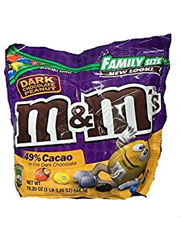 M&M s Dark Chocolate Peanut Family Size 19.2 oz