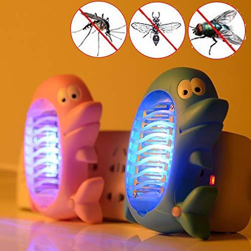 Vliegenmoordenaar Leuke Dolfijn Mosquito Killer lamp Electric Fly Insect Mosquito Insectenverdelger LED Light Trap Lamp, willekeurige kleur Delivery ultrasone ongediertebestrijder ongediertebestrijd