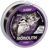 Jaxon Angelschnur Monolith CARP 0,25-0,35mm 300m Spule Monofile Karpfenschnur (0,27mm/15kg)