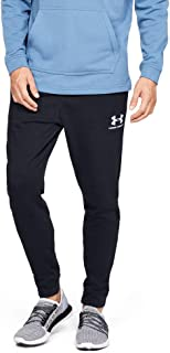 Under Armour Men's Sportstyle Terry Jogger Pants, Black (Black/Onyx White), Large
