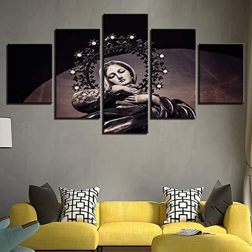 Arte de la Pared Impresión en Lienzo Óleo Dios Pinturas Decoración para el hogar 5 Panel La Madre de la Virgen María para la Sala de Estar Ilustraciones Modernas Lglays-30x40x2 30x60x2 30x80x1