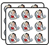 Electrician Funny Cartoon Guy 2' 18 Pack Planner Calender Scrapbooking Crafting Stickers