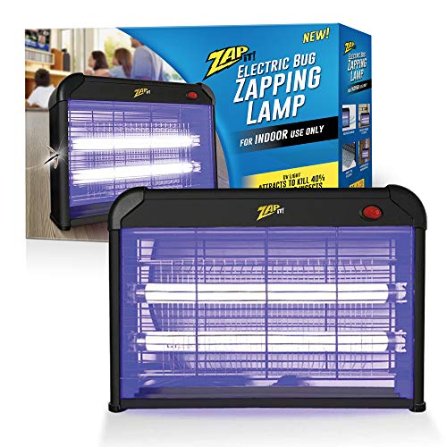 ZAP IT! Electric Indoor Bug Zapper (2,800 Volt) Plug-in 360 Degree Mosquito, Bug, and Insect Killer - Non-Toxic Attractant UV Light and Electric Shock - Bug Collector to Easily Clean