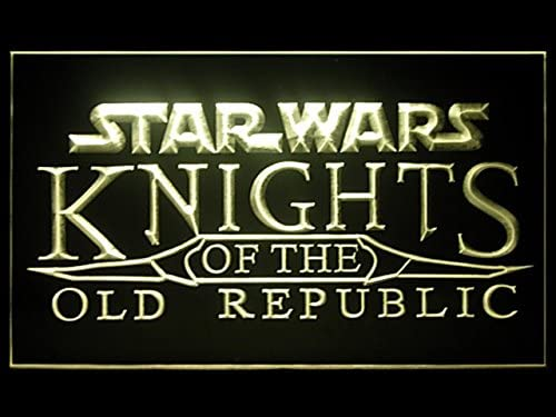 Star Wars Knights of The Mail order Old Excellent Republic Advertising Li Hub LED Bar