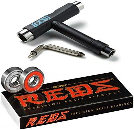 Bones Reds Precision Skate Bearings (8 Pack w/Spacers & Washers & Speed Cream)
