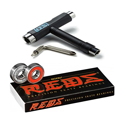 Bones Reds Bearings W/CCS Skateboard Tool